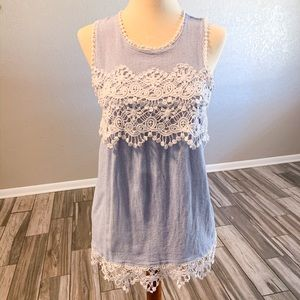 Lace Tank Top Blouse